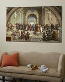 L'école d'Athènes Affiche par  Raphael