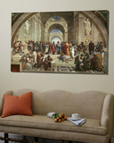 Die Schule von Athen Poster von  Raphael