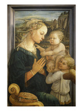 Madonna and Child with Two Angels Giclée-tryk af Fra Filippo Lippi