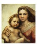 The Sistine Madonna, Madonna and Child with Pope Sixtus II and Saint Barbara, C. 1512, Detail Reproduction procédé giclée par  Raphael