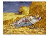 La Méridienne Ou La Sieste, Siesta at Noon, after 1866 Pastel Drawing by Millet, 1890 Giclee Print by Vincent van Gogh