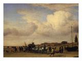 The Beach at Scheveningen, Holland Giclée-Druck von Adriaen van de Velde