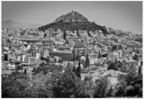 Black and White Athens Greece Plakater