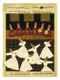 Konya Whirling Dervishes Ritual, 16th Century, Ottoman Miniature of the Anatolian School Giclee Print