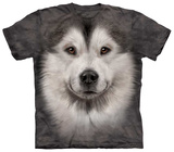Alaskan Malamute Face Tshirts