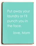 Love Mom Placa de madeira