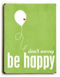 Don't Worry be Happy 木製看板