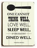 Dine Well 木製看板