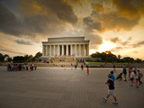 A View of the Lincoln Memorial at Sunset Photographic Print by Jorge Fajl
