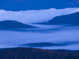 The Adirondack Mountains at Dawn from Atop Cascade Mountain Photographic Print by Michael Melford