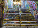 The Graffiti Walkway on the University Campus Premium fotografisk trykk av Bill Hatcher