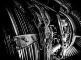 The Engine of a 737-400 Fotografisk tryk af Jorge Fajl