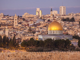 Old City from the Mount of Olives, with Dome of the Rock and West Jerusalem Skyline Fotoprint av Richard Nowitz