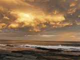 A Break after Stormy Weather on Cape Elizabeth's Rocky Shore Photographic Print by Mauricio Handler