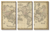 Johnson's Map of the World Posters