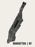 Manhattan Kunstdrucke von  Mr City Printing