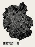 Brussels (w Foil) Kunstdrucke von  Mr City Printing