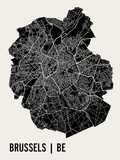Brussels Poster by  Mr City Printing