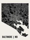 Baltimore Plakater av  Mr City Printing