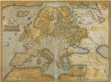 Mappa Europa - Antique Style Europe Map Poster Julisteet