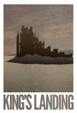 King's Landing Retro Travel Poster Plakater