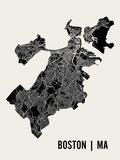 Boston Poster von  Mr City Printing