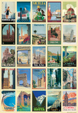 Vintage Style Italian Travel Poster Collage Poster Kunstdruck