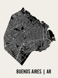 Buenos Aires Plakat av  Mr City Printing