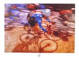 Cycling Collectable Print by Bernie Fuchs