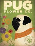 Pug Flower Co. Poster af Stephen Fowler