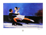 Couple de patineurs Reproduction pour collectionneur par Bart Forbes