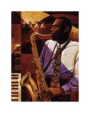 Jazz Club Impressão giclée por Keith Mallett