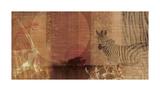 Safari Sunset I Reproduction procédé giclée par Tandi Venter