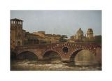 Ponte Pietra, Verona Giclee-trykk av Heather Jacks