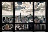 New York Window Poster by Steve Kelley