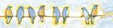 Eight Little Bluebirds Plakater af Jennifer Lommers