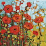 Red Poppy Field Lámina por Jennifer Lommers