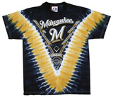 Youth: MLB- Milwaukee Brewers V-Dye Tシャツ