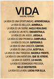 Vida por Madre Teresa Poema Posters