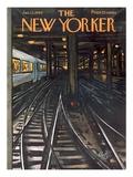 The New Yorker Cover - January 12, 1963 Giclée-Premiumdruck von Arthur Getz