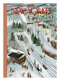 The New Yorker Cover - February 28, 1953 Giclée-Premiumdruck von Charles E. Martin