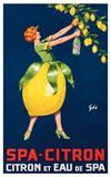 Spa-Citron,Citron et Eau de Spa, ca. 192 Plakater