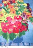 Flowers (sm) Poster van Walasse Ting