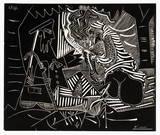 Luncheon on the grass (white) Impressão colecionável por Pablo Picasso