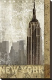 Autumn in New York Stretched Canvas Print by Keith Mallett