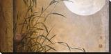 Lakeside Moonrise Reproducción de lámina sobre lienzo por Don Li-Leger