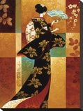 Sakura Stretched Canvas Print by Keith Mallett