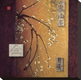 Oriental Blossoms II Opspændt lærredstryk af Don Li-Leger