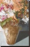 Two Dozen Blooms Stretched Canvas Print by Leslie Bernsen