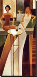 Les Sirens Trykk på strukket lerret av Keith Mallett